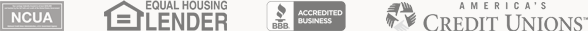 NCUA, EHL, BBB, and ACU logos