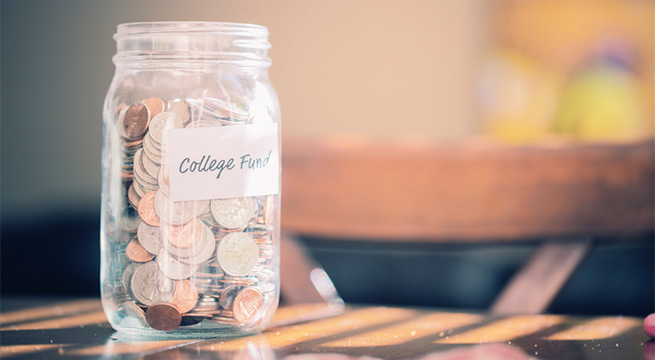 College savings in a mason jar