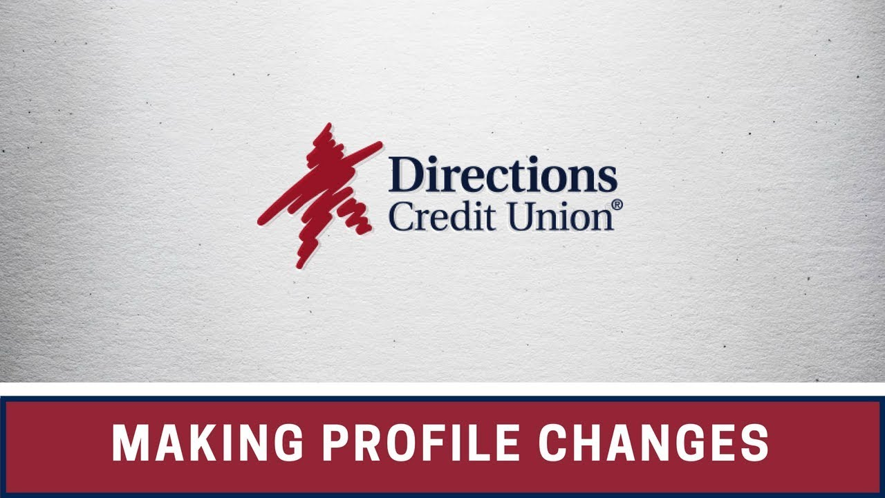 Learn how to make profile changes in online banking