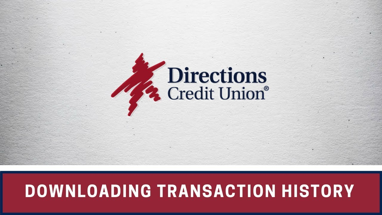How to download transaction history from online banking