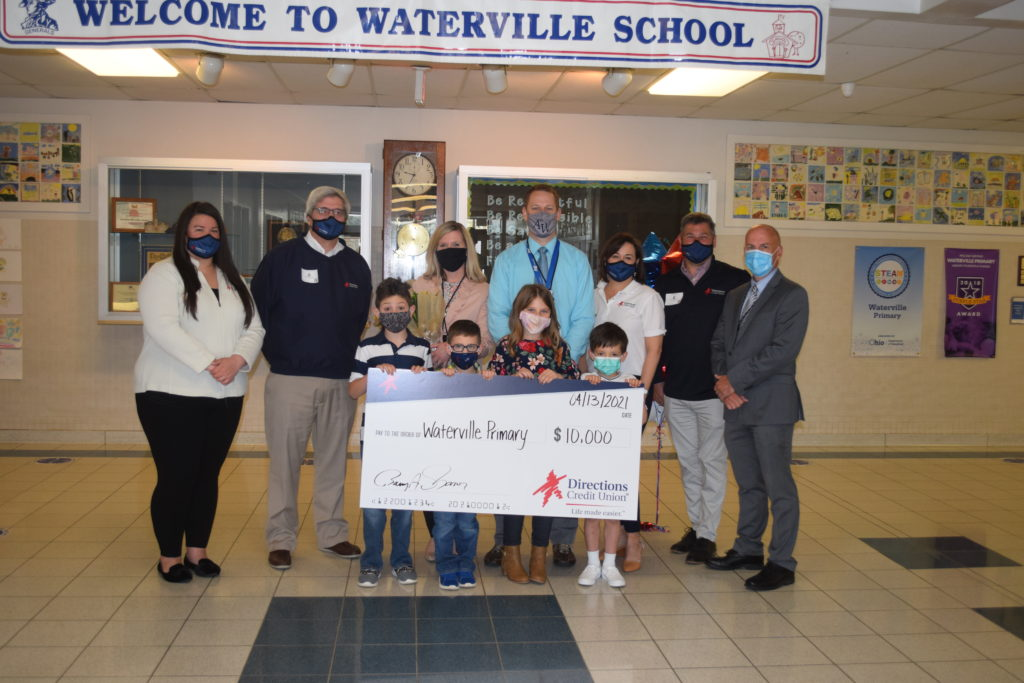 Check presentation to Waterville Primary School